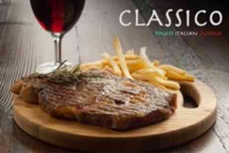 Classico - 10oz Rib-Eye or Sirloin Steak For Two or Four With Wine - Save 52%
