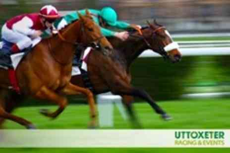 Uttoxeter Racecourse - Super Saturday Horse Racing Two Premier Tickets - Save 57%