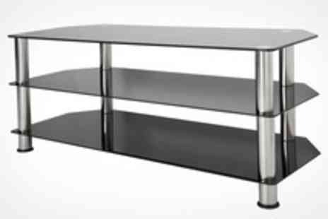 The Range - Contemporary Glass TV Stand in Choice of Three Sizes - Save 0%