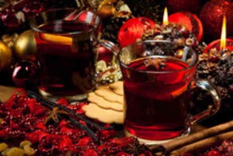 Lazy Lounge - Two 175ml glasses of mulled wine & two slices of cake to share between 2 - Save 48%