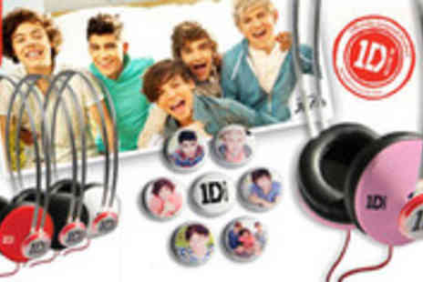 totaldigitalstores - One Direction Snap Caps Headphones in a choice of colours - Save 37%