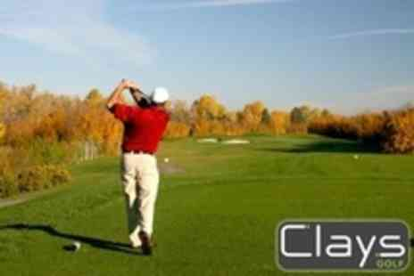 Clays Golf - Day of Golf For Two With Coffee and Breakfast Bap - Save 75%