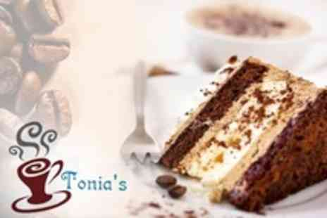Tonias - Coffee and Cake For Two - Save 58%