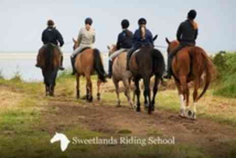 Sweetlands Riding School - Horse Riding Two and a Half Hour Countryside Hack - Save 58%