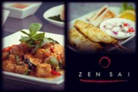Zensai Bar - Pan Asian Tasting Menu With Cocktail Each For Two - Save 51%