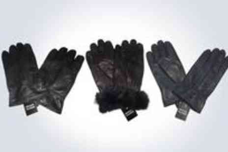 008 Imports - Pair of toasty warm, super-stylish men's leather gloves - Save 50%