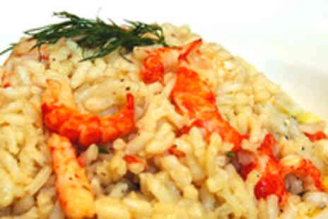 Grappolo - Risotto for Two with Bottle of Wine to Share - Save 64%