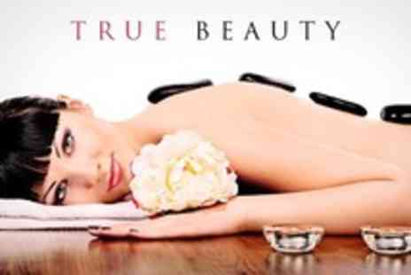 True Beauty - Hot Stone Massage and Facial With Additional Treatment - Save 60%