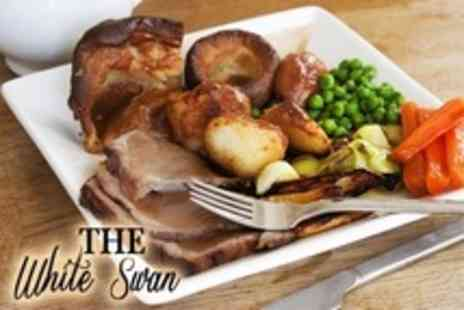 The White Swan - Two Course Sunday Lunch For Two With a Bottle of Wine - Save 60%
