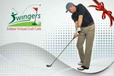 Swingers Golf Centre - Two Golf Hour Indoor Simulation For Up to Six - Save 75%
