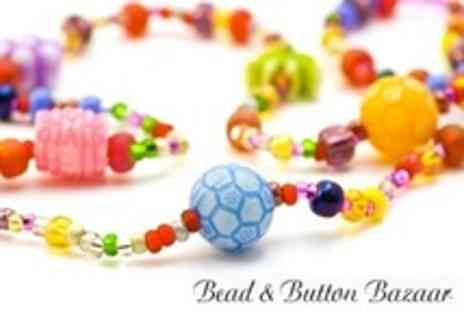 Bead and Button Bazaar - Beginners Jewellery Making Workshop For One - Save 55%