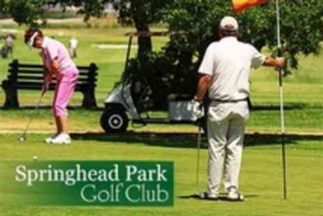 Springhead Park Golf Club - One 18 Holes of Golf Round For Two - Save 62%