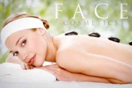 FACE Cosmetics - Hot Stone Massage or Facial - Save 69%