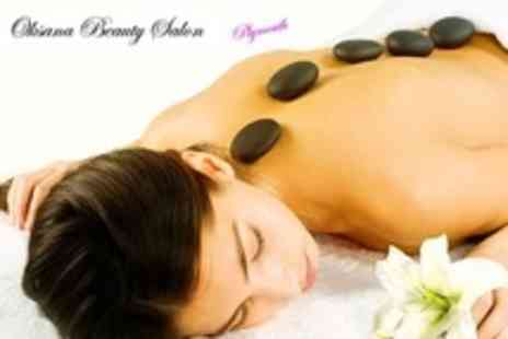 Oksana Beauty Salon - Hot Stone Massage and Mini Facial Plus Manicure or Pedicure - Save 58%
