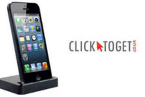 www.clicktoget.co.uk - Docking Station and Charger for iPhone 5 - Save 52%