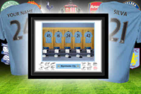 UR in the paper - Custom dressing room photo of your football team inc your name - Save 60%