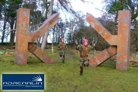 Adrenalin North Yorkshire - Team Krypton Factor Assault Course Experience - Save 61%