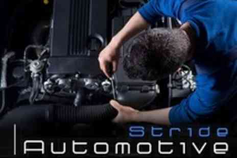 Stride Automotive - Car Service With Oil and Filter Change Plus 50 Point Check and MOT - Save 77%