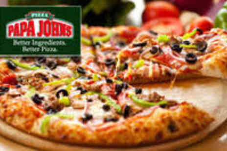 Papa Johns - Papa Johns 2 Medium Take Away Pizzas with any 2 Toppings from Shawlands - Save 59%
