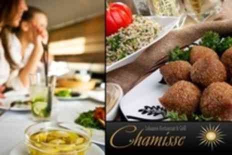 Chamisse - 16 Dish Lebanese Mezze Platter With Vegan Option Plus Wine For Two - Save 50%