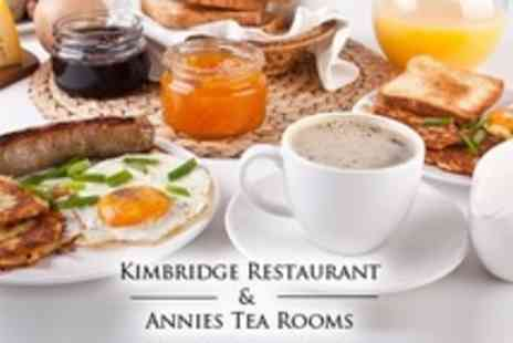 Kimbridge Restaurant - Full English Breakfast With Hot Drink For Two - Save 52%