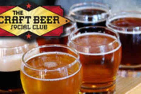 The Craft Beer Social Club - Two tickets to Beer Tasting - Save 67%