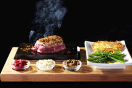 Rangos - Hot stone 2 course steak meal for 2 with a small glass of wine each - Save 51%