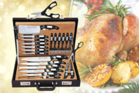 SVB Trading - Muller Cuisine 24 piece Masterline knife set in leather case - Save 73%