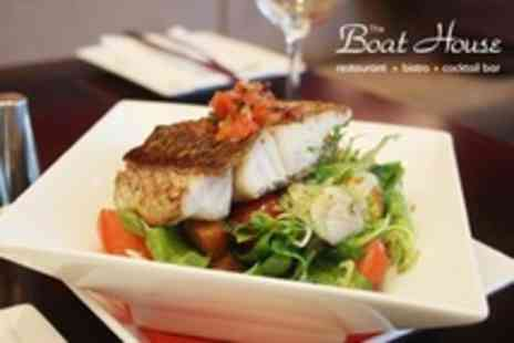 The Boat House - Seafood Three Course Meal For Two - Save 17%