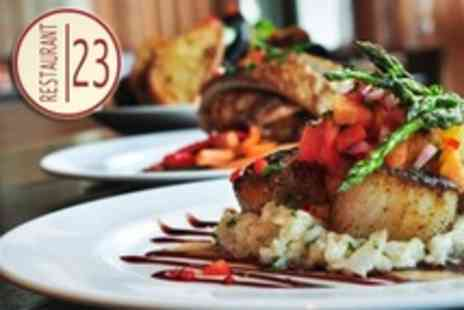 Restaurant 23 - Three Course Evening Meal For Two - Save 52%