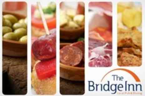 The Bridge Inn - Sharing Platter With Wine and Sides For Two - Save 59%