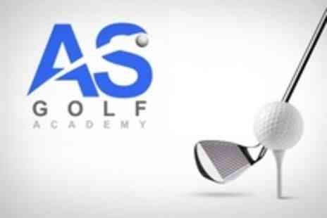 AS Golf Academy - Two Private 30 Minute Golf Lessons Including Video Analysis and Indoor Simulator - Save 24%