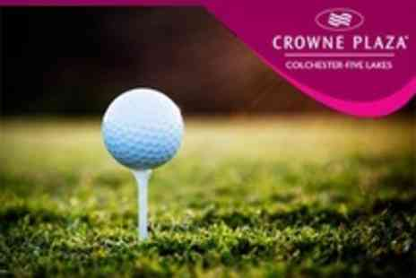 Crowne Plaza Resort - Golf For Two With Bacon Roll, Refreshments and Spa Access - Save 20%