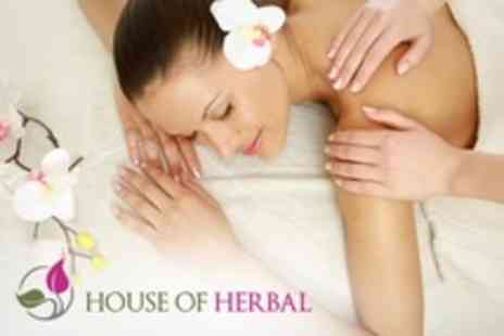 House of Herbal - Massage and Deluxe Manicure - Save 60%