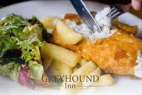 The Greyhound Inn - Two Course Set Pub Meal For Two or Four With Punch and Coffee - Save 18%