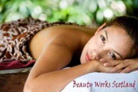 Beauty Works Scotland - Pamper Package Three Treatments Such as Facial, Massage and Pedicure - Save 67%