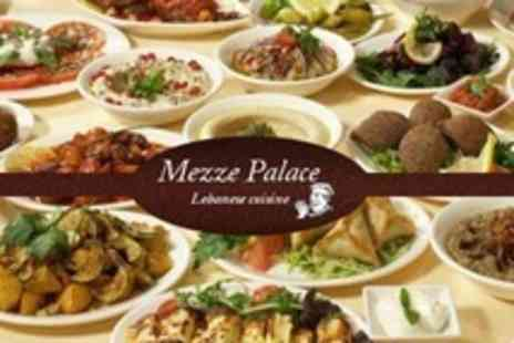 Mezze Palace - Two Course Lebanese Meal For Two With Tea - Save 57%