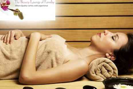 The Beauty Lounge of Formby - One Hour of Treatments inc. Slimming Wrap, Mini Facial and Massage - Save 75%