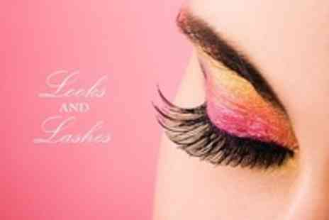 Looks and Lashes - Full Set of Semi Permanent Eyelashes Plus Infill Appointment - Save 82%
