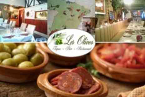 Les Olives - Four Tapas For Two With Churros Spanish Pastry Each - Save 20%