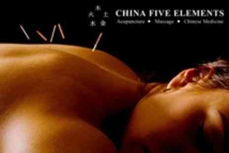 China Five Elements - Massage With Acupuncture or Cupping Treatment - Save 17%