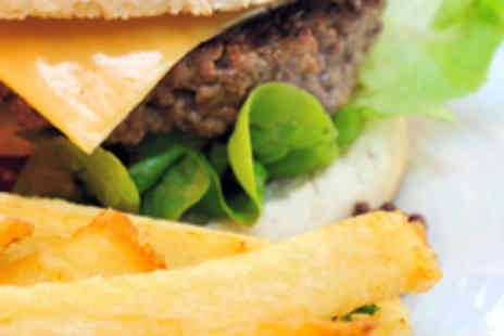 Independent Bar and Kitchen - Two Burgers, Two Fries, and Wine or Beer - Save 56%