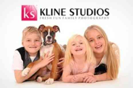 Kline Studios - Family Photoshoot With Framed Print and Calendar- Save 92%