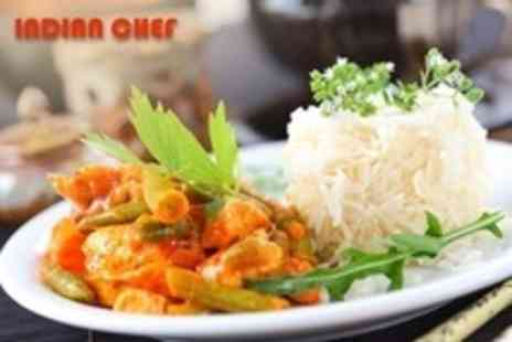 Indian Chef - Two Course Indian Meal For Two Plus Rice and Coffee - Save 66%