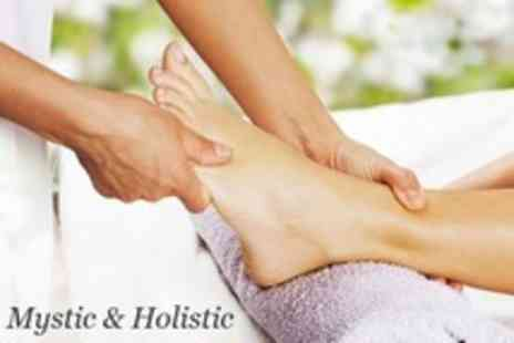 Mystic and Holistic - One Sea Salt Foot Scrub, Pedicure and Foot Massage - Save 76%