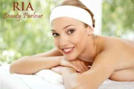 RIA Beauty Parlour - Choice of Facial, Oriental Head Massage and Mini Manicure - Save 67%