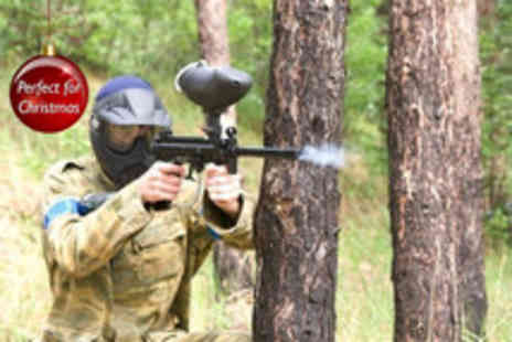National Paintball Games - Paintballing day for up to 5 people inc lunch & 100 paintballs each - Save 93%