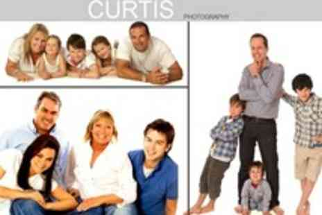 Curtis Photography - Family Photoshoot With Canvas Wrap Print, Four 7 x 5 Prints - Save 89%