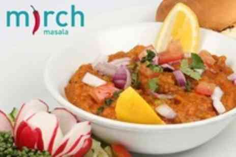 Mirch Masala - Three Course Vegetarian Fusion Meal With Rice or Naan For Two  - Save 70%