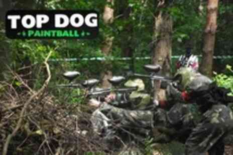 Top Dog Paintball - Paintball For One With 100 Paintballs Plus Lunch Each - Save 40%